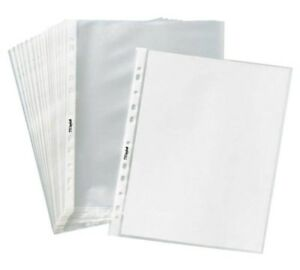 New 400 Sleeves Clear Plastic Sheet Page Protectors Document Acid Free 8 5x11