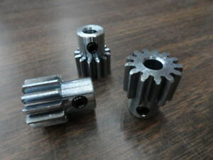 Lot Of 3 Spur Gears 20 Pitch 20 000 Deg Angle Bore 1 4 Teeth 13 65 Pd