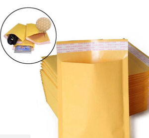 10 20 50 100pcs Kraft Bubble Padded Envelopes Mailer Yellow Paper Self Seal Bag