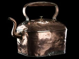 C1820 Country Estate Giant Copper Brass 45 Pint Kettle