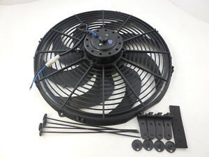16 Universal Heavy Duty Cooling Fan W Curved Blades 12v