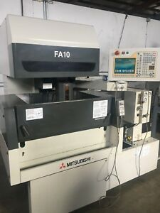 Mitsubishi Fa 10 Cnc Wire Edm 2001 5 Axis Auto Threading Sodick Makino