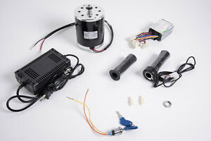 500 W 24 V Electric Motor Kit W Base controller throttle charger keylock Switch