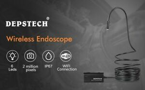 Wireless Endoscope Depstech Wifi Borescope Inspection Camera 2 0 Megapixels Hd