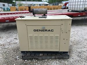 Generac Propane Generator 25kw Single Phase Sound Proof Enclosure 27 Hours