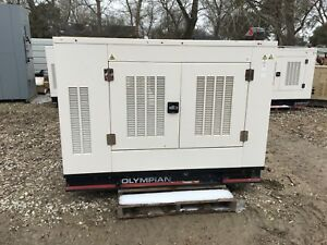 Olympian Propane natural Gas Generator Set 25kw Single Phase Only 160 Hours