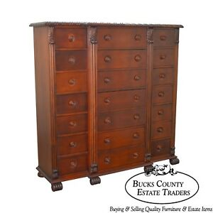 Polo Ralph Lauren Mahogany Multi Drawer Empire Style Gentlemans Chest C