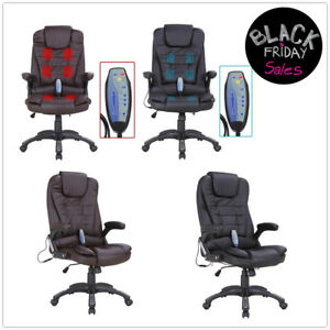 Massage Chair Heated Vibrating Executive Ergonomic Computer Office Desk Chair