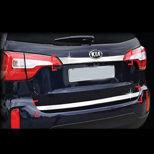 2013 2014 Kia New Sorento R Chrome Trunk Garnish Molding Trim Cover 2p 1set