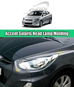 Safe Chrome Head Lamp Molding 2pcs For Hyundai Accent Solaris 4d 5d 2011 2015