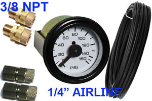 Air Ride Suspension Dual Needle Air Gauge 150psi Add On Kit Xzx