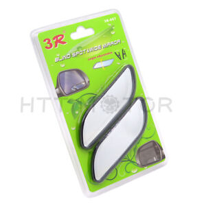 Universal 2 Auto 360 Wide Angle Convex Rear Side View Blind Spot Mirror For Car