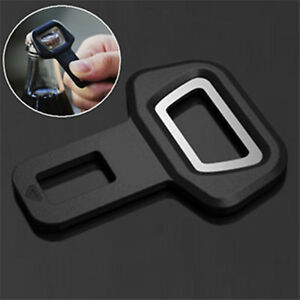 Car Seat Belt Buckle Insert Safety Warning Alarm Eliminator Stopper Opener Gut