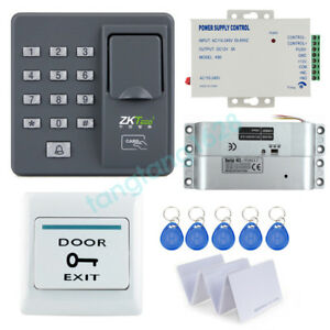 Biometric Fingerprint Access Controller X6 Power Supply bolt Lock exit Button