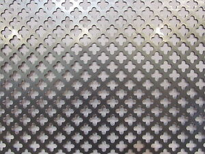 Decorative Cloverleaf Pattern Perforated Steel 24 X 24