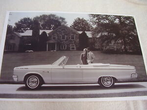 1965 Dodge Coronet 500 Convertible Side View 11 X 17 Photo Picture