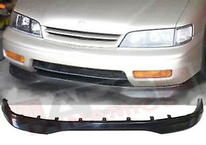 Type R Style Front Lip For 1996 97 Honda Accord 2 4dr Unpainted Polyproplyene
