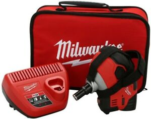 Palm Nailer Kit Milwaukee 12 volt Lithium ion Cordless Brushed Motor Led Light