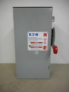 Eaton Dh223nrk 100 Amp 240 Volt Nema 3r Fusible Disconnect Safety Switch