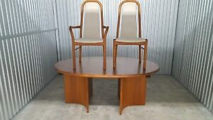 Danish Dining Table And 6 Chairs Vintage Condition
