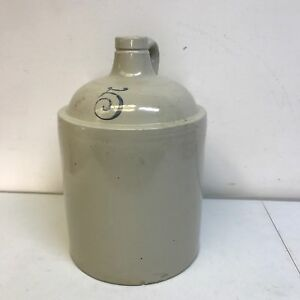 5 Gallon Red Wing Stoneware Jug Crock
