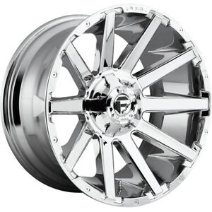 20x10 Chrome Fuel Contra d614 Wheels 8x170 18 Lifted Fits Ford Excursion