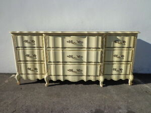 Dresser French Provincial Chest Of Drawers Shabby Chic Mid Century Buffet Media