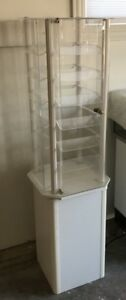 Rotating Acrylic Tower On Stand Display Case