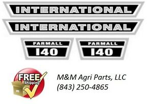 Ih Farmall 140 Tractor Hood Decal Set Ih International Harvester Tractor