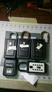 Lot Of 5 Lockbox For Key Or Card Storage 3 Digit Realtor Lock Box