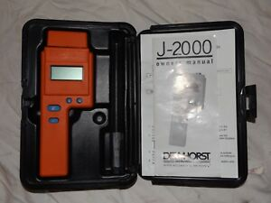 Delmhorst J 2000 Digital Pin type 6 40 Wood Species Moisture Meter With Case