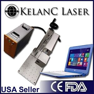 Portable With Stand 20w Fiber Marking Marker Engraving Laser Fda New 2yr Warr