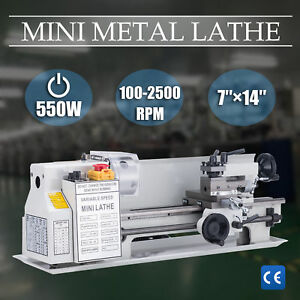 7 X 14 Mini Metal Lathe Machine 550w Variable Speed 0 2500 Rpm