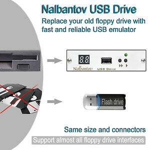 Nalbantov Usb Floppy Disk Drive Emulator For Jones Shipman Dominator 624 Fanuc