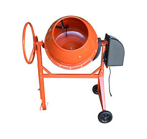 6 Cu Ft Electric Steel Stucco Concrete Cement Mixer 170l Stone Mixing Machine
