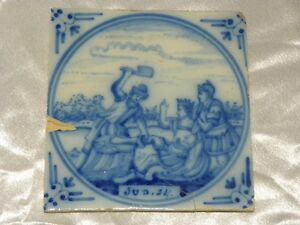 18th Century Dutch Delft Biblical Tile