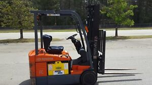 2014 Toyota 7fbeu18 Forklift Truck Full Free Lift 131 Side Shift Low Hours