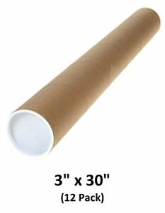Mailing Tubes With Caps 3 Inch X 30 Inch 12 Pack Magicwater Supply