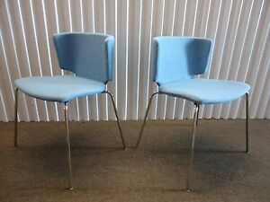 Wrapp Pair Of Side And Guest Chairs 4 leg By Coalesse Design Spain mark Krusin