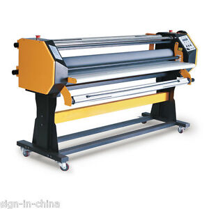 67 Stand Frame Full auto Single Side Wide Format Hot cold Laminator With Stand