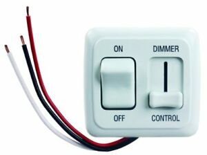 Jr Products 15205 White Led Dimmer On off Switch