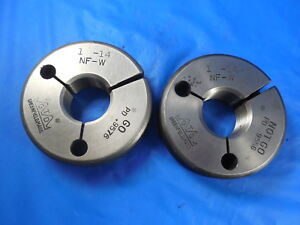 1 14 Nf Thread Ring Gages 1 0 Go No Go P d s 9576 9556 Inspection Tooling