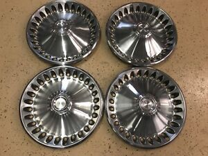 70 72 Plymouth Division Hubcaps 14 Set Of 4 Wheel Covers