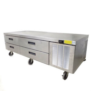 Delfield F2975c Full Size 4 drawer 76 Low profile Ss Refrigerator Base stand