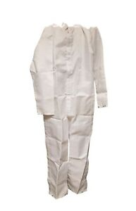 lot Of 5 Angelica Lab Overalls Coveralls Protective Coat Suit Washable
