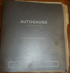 Autogauge For Press Brakes Shears G 24 Operator Manual Diagrams