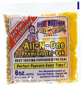 Great Northern Popcorn Portion Packs Kit 6 Ounce Pack Of 12 Tabletop Concession