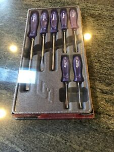 New Snap On 7 Piece Purple Hard Handle Screwdriver Set Sddx70adp