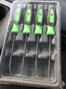 Snap On 4 Piece Soft Grip Mini Pick Set