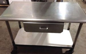 Stainless Steel Table Cart W Wheels Industrial Or Restaurant Quality Used